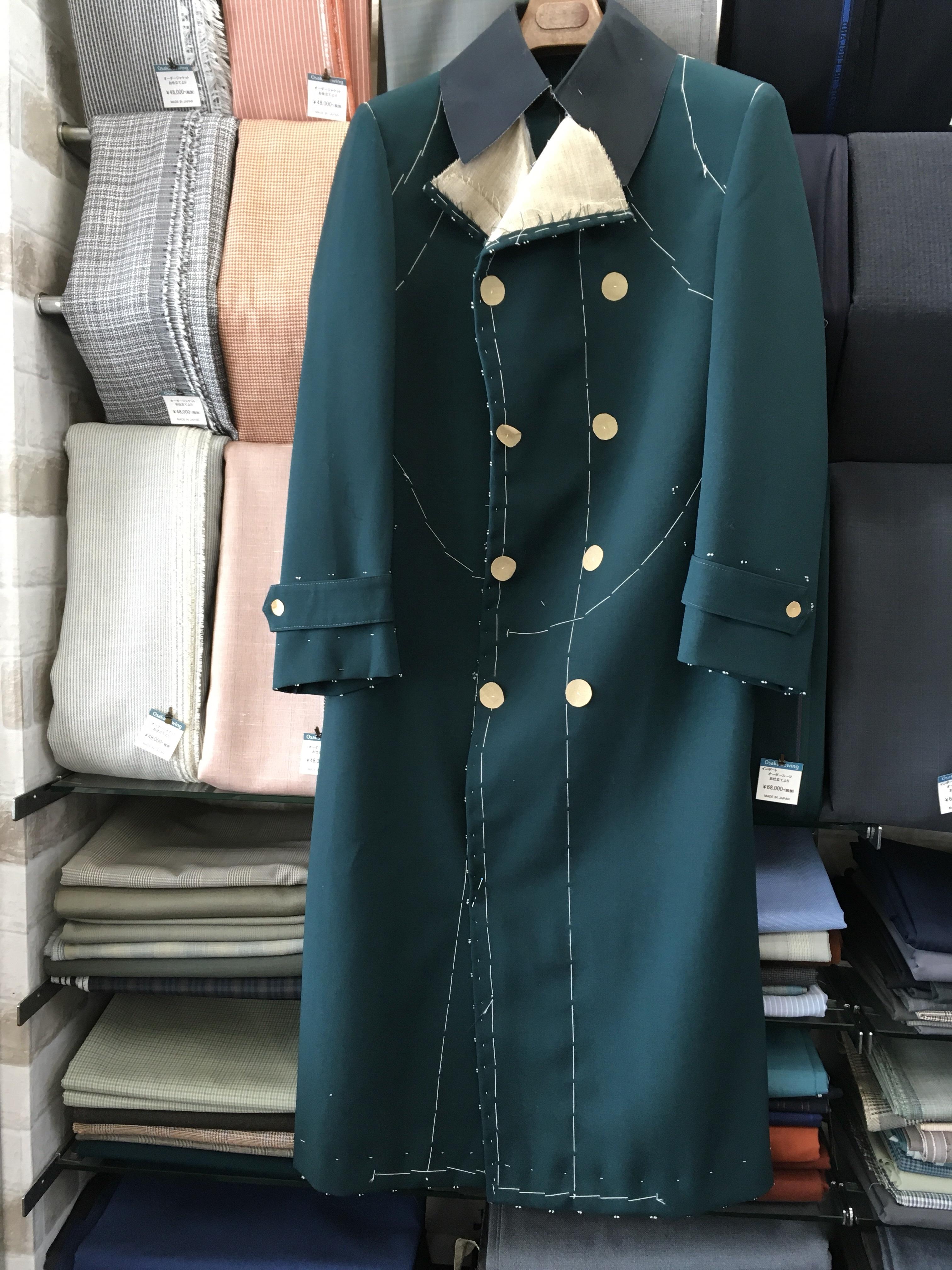 マント・ナポレオンコートの仮縫い