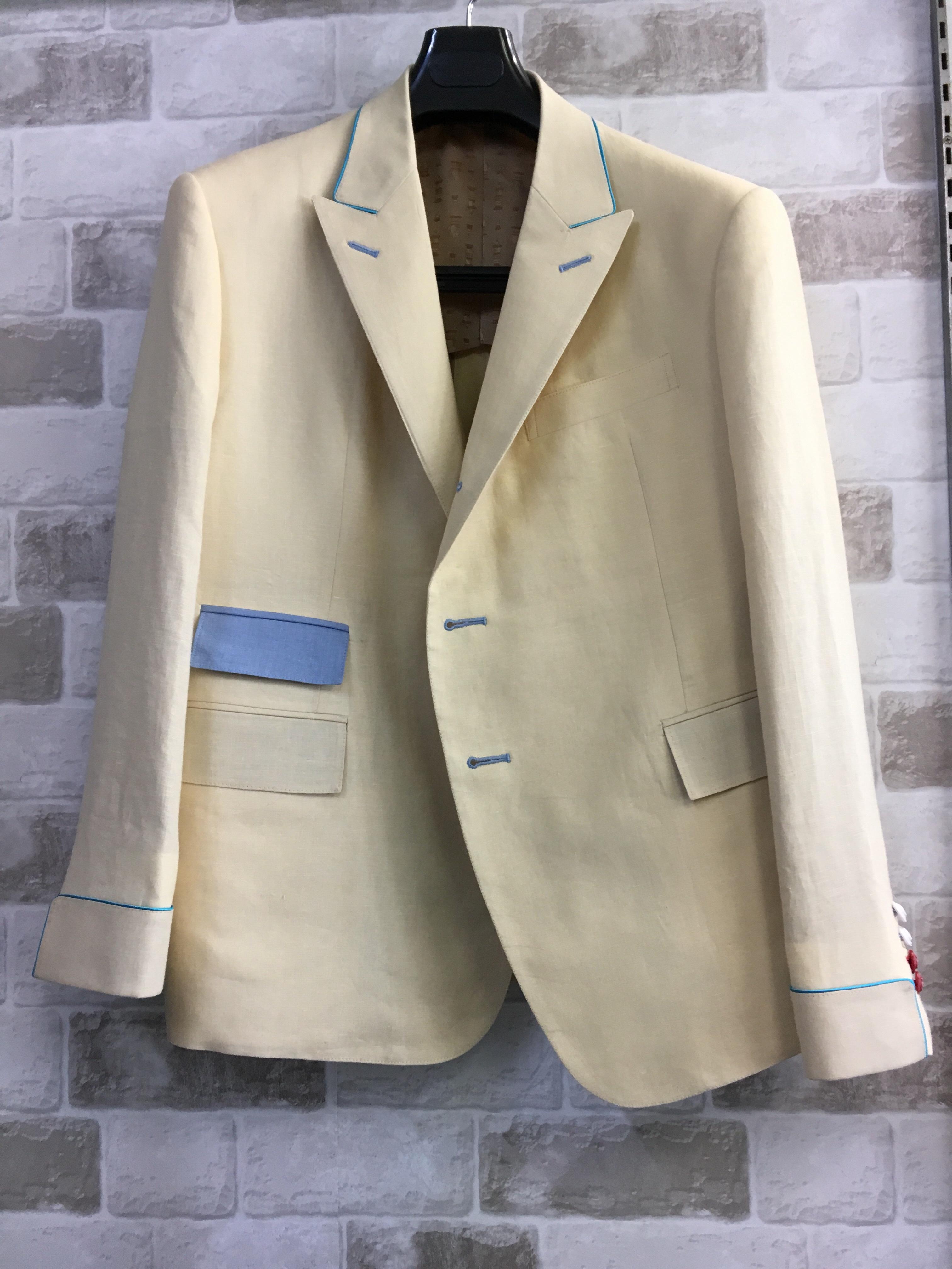 麻100%のジャケット