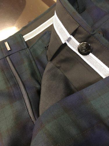 ブラックウォッチの3Pスーツ
