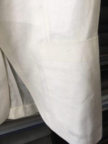 麻100%素材スーツ